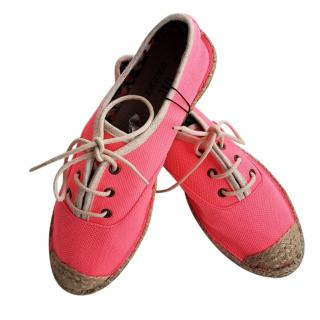Georges Rech Pink Lace-Up Espadrille Shoes