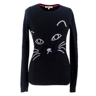 Clements Ribeiro Cat Print Wool & Cashmere-blend Jumper
