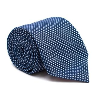 Pink by Thomas Pink Blue Check Silk Tie