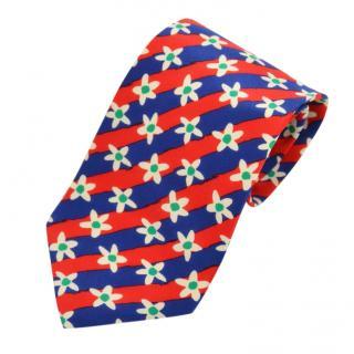 Yves Saint Laurent floral-print silk tie