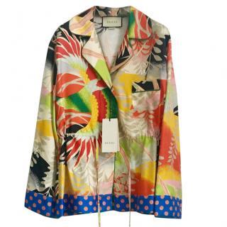 Gucci Tropical Bird Silk Pyjama Top