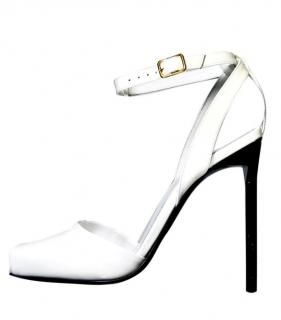 Yves Saint Lauren Square-Toe Monochrome Sandals