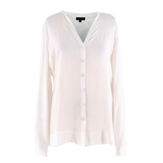 Escada Cream Silk Long sleeve Blouse