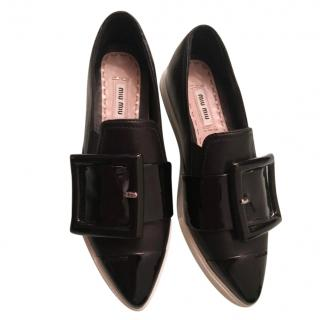 Miu Miu patent leather point-toe flat shoes
