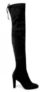 Stuart Weitzman black over-the-knee suede boots