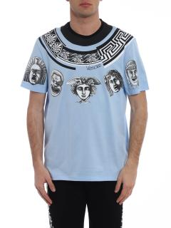 Versace Greek Balletto Sky Blue T-shirt