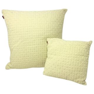 Missoni pair of yellow knitted cotton cushions