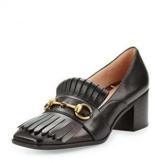 Gucci Polly Fringed Black Loafers