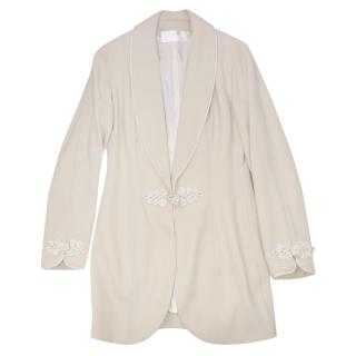Catherine Walker frog-button ivory jacket