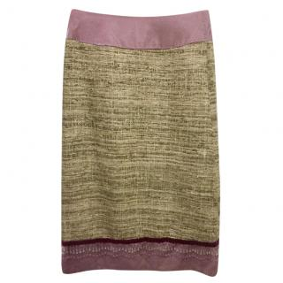 Mathew Williamson silk and velvet skirt