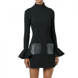 David Koma wool flared sleeve dress