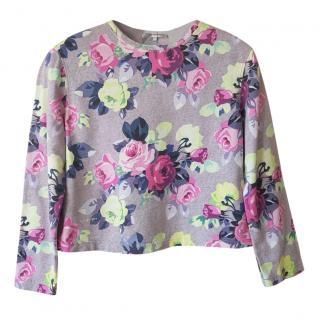 Carven floral-print jumper