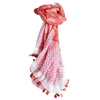 Gerard Darel printed knit scarf