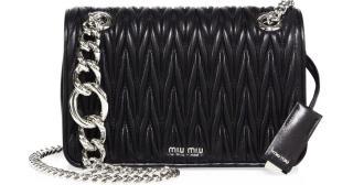 Miu Miu Chain Matelasse leather shoulder bag
