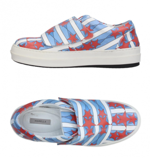 Marella Red & Blue Star Sneakers