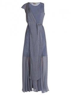 Sportmax Printed Blue Dress