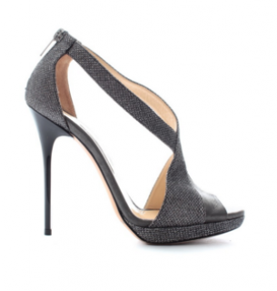 b84a332a61c Jimmy Choo Vision Textured-Lame   Leather Platform Sandals