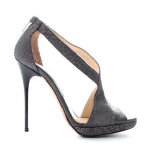 Jimmy Choo Vision Textured-Lame & Leather Platform Sandals