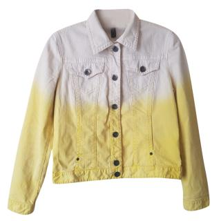 Marc Cain yellow-ombre denim jacket