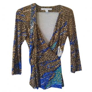 Diane Von Furstenberg printed wrap blouse