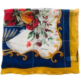 Dolce & Gabbana Sicily floral Vase print silk scarf