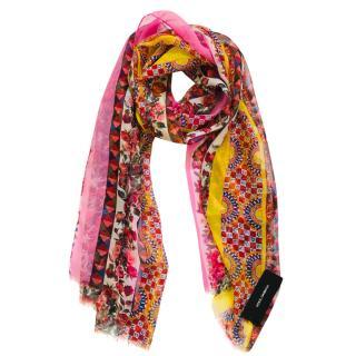 Dolce & Gabbana Sicily Rose Print Silk Wrap