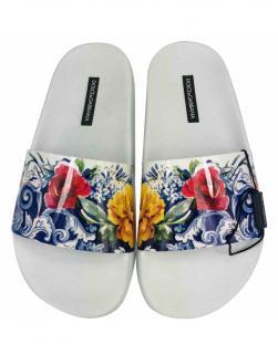 Dolce & Gabbana Sicily Maiolica floral slides