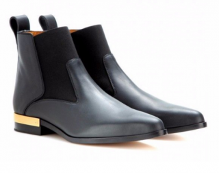 Chloe Drew black leather ankle boots