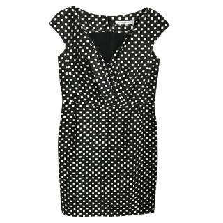 Dior Black & White Printed Dress