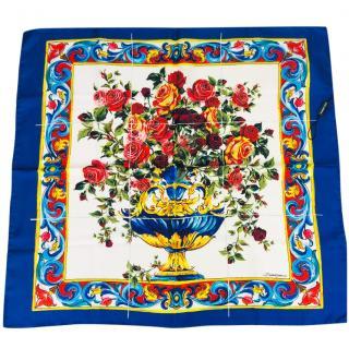 Dolce & Gabbana Sicily Maiolica headscarf silk scarf