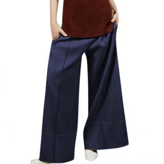 Celine by Phoebe Philo Wool Navy Culottes