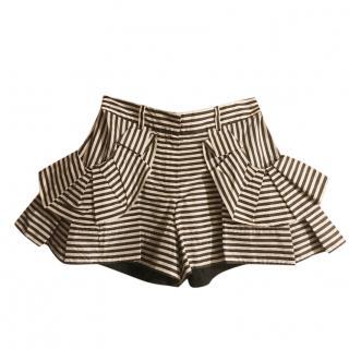 Louis Vuitton Striped Mini Shorts