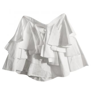 Christian Dior white ruffled mini