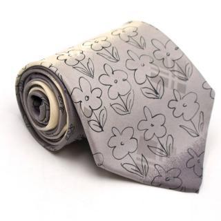 Hugo Boss Grey Floral Print Tie