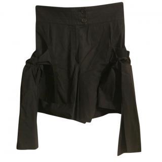Louis Vuitton Black Ribbon Tie Shorts