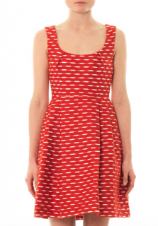 Jonathan Saunders Red Alba Jacquard Dress