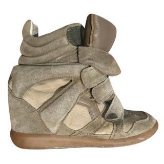 Isabel Marant Wedge Suede Sneakers