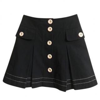 Louis Vuitton Button-Down Mini Skirt