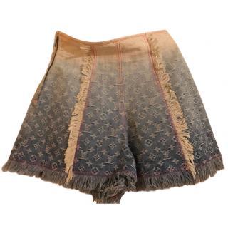Louia Vuitton ombre monogram denim shorts