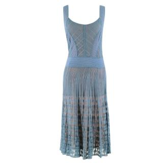 Temperley London Blue Lace Knit Dress