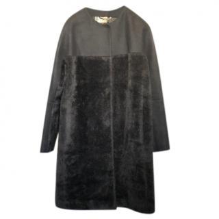 Etro Black Alpaca Coat