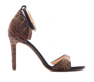 Mulberry Croc-Effect Calf Hair & Leather Sandals