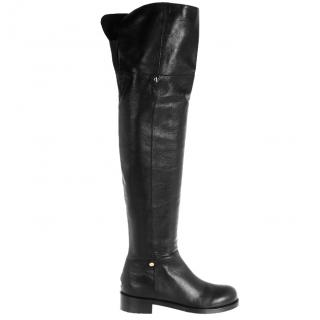 Jimmy Choo Deron Polished-Leather over-the-knee Boots