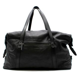 Bill Amberg Black Leather Holdall Bag