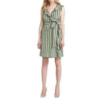 Kate Spade Geometric Aubrey Silk Wrap Dress