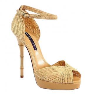 cbe812113c7 Ralph Lauren raffia platform sandals