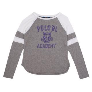 Polo by Ralph Lauren Children's Grey Long-Sleeved Top