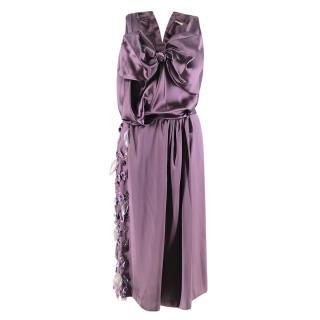Nina Ricci Crystal-Embellished Satin Dress