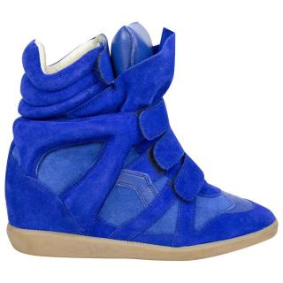 Isabel Marant Blue Suede Beckett Trainers