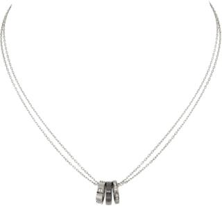 Cartier  Diamond-Encrusted White Gold Love Necklace